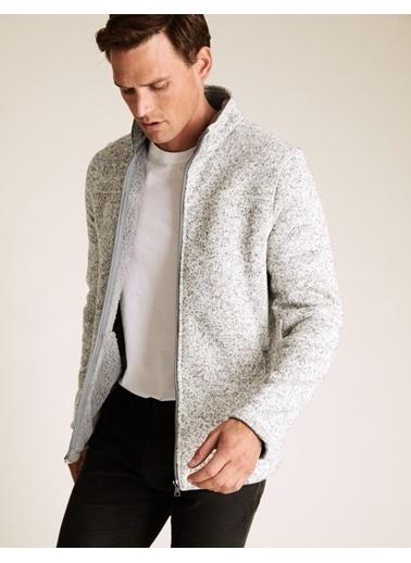Marks & Spencer Fermuarlı Polar Ceket Krem